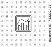 graph chart icon. set of... | Shutterstock .eps vector #732232426