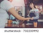 young beautiful asian woman...   Shutterstock . vector #732233992