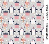 seamless vector pattern with... | Shutterstock .eps vector #732235066