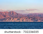 red sea rocky coastline in... | Shutterstock . vector #732236035