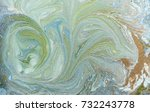 marbled blue abstract... | Shutterstock . vector #732243778