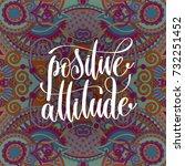 positive attitude hand... | Shutterstock .eps vector #732251452