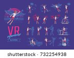 vr female user ready to use... | Shutterstock .eps vector #732254938