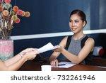 two asian beautiful young... | Shutterstock . vector #732261946