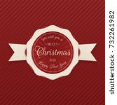 vector merry christmas emblem...   Shutterstock .eps vector #732261982