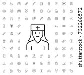 nurse icon. set of outline... | Shutterstock .eps vector #732266572
