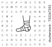 bandaged leg icon. set of... | Shutterstock .eps vector #732267352