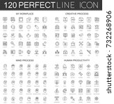 120 modern thin line icons set... | Shutterstock .eps vector #732268906