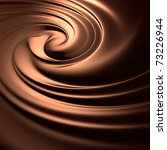 Astonishing chocolate swirl. Clean, detailed render. Backgrounds series. - stock photo