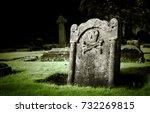 Gravestone With Skull And Bone...