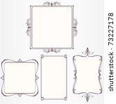 ornate vintage frame set | Shutterstock .eps vector #73227178