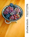 red and white grapes on wooden... | Shutterstock . vector #732272296