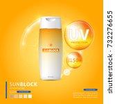 sunblock ads template  sun... | Shutterstock .eps vector #732276655