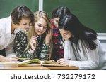teacher woman happy young... | Shutterstock . vector #732279172