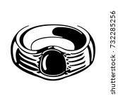 old ring | Shutterstock .eps vector #732285256