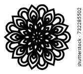 mandalas for coloring book.... | Shutterstock .eps vector #732285502