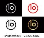 io logo. letter design vector... | Shutterstock .eps vector #732285802