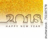 happy new year 2018 background | Shutterstock .eps vector #732287578