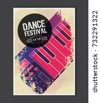 music poster template. vector... | Shutterstock .eps vector #732291322