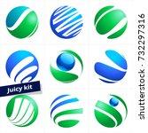 vector logo in sphere shape for ...   Shutterstock .eps vector #732297316