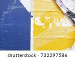 blue yellow urban street poster ... | Shutterstock . vector #732297586