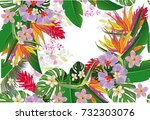 design of tropical background... | Shutterstock .eps vector #732303076