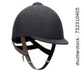 classic jockey helmet for horse ... | Shutterstock . vector #732310405