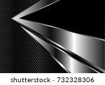 abstract silver arrow on dark... | Shutterstock .eps vector #732328306