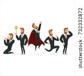 business character collection.... | Shutterstock .eps vector #732332872
