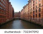 the speicherstadt  or warehouse ... | Shutterstock . vector #732347092