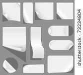 blank white advertising coupon... | Shutterstock .eps vector #73234804
