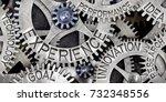 macro photo of tooth wheel... | Shutterstock . vector #732348556