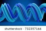 blue twisted spiral shape.... | Shutterstock . vector #732357166