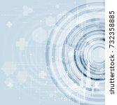 medical infographic set. vector ... | Shutterstock .eps vector #732358885