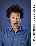 funny portraits of a guy who... | Shutterstock . vector #732360352