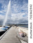 Small photo of Switzerland Geneva October 10 2017 ,The Fountain presence gives the power to the place, every time you look on its majesty you are reminded that you are in the powerful and well organized country.