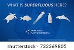 ocean animals and plastic...   Shutterstock .eps vector #732369805