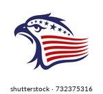 american eagle patriotic logo | Shutterstock .eps vector #732375316