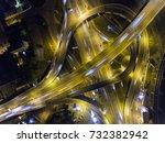 traffic on freeway interchange. ... | Shutterstock . vector #732382942