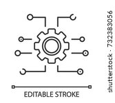 device settings linear icon.... | Shutterstock .eps vector #732383056