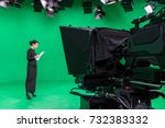 blur image of television... | Shutterstock . vector #732383332