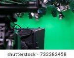 broadcast studio camera in... | Shutterstock . vector #732383458