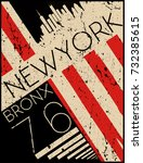 newyork fashion tee typography... | Shutterstock .eps vector #732385615