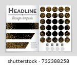 abstract vector layout... | Shutterstock .eps vector #732388258