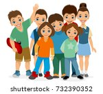 vector illustration of smiling... | Shutterstock .eps vector #732390352