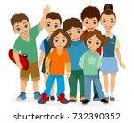 vector illustration of smiling... | Shutterstock .eps vector #732390352