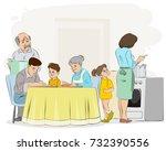 vector illustration of a family ...   Shutterstock .eps vector #732390556