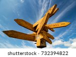 a compass indication for some... | Shutterstock . vector #732394822