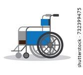 wheelchair vector flat object.... | Shutterstock .eps vector #732399475