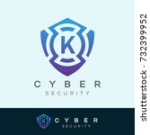 cyber security initial letter k ... | Shutterstock .eps vector #732399952